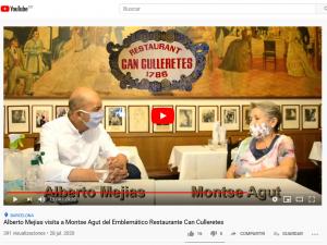 Alberto Mejias (Ruta dels Emblemàtics) visita Can Culleretes en tiempos de COVID